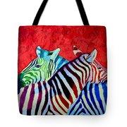 Zebras In Love  Tote Bag