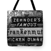 Zehnder's Black And White Tote Bag
