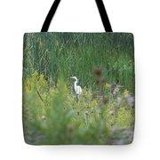 Zen Egret Tote Bag