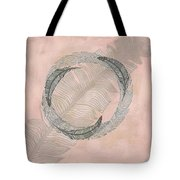 Zen Feather Circle I Tote Bag