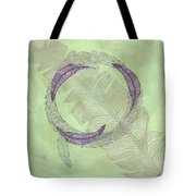 Zen Feather Circle I V Tote Bag
