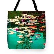 Zen Garden Water Lilies Pond Serenity And Beauty Lily Pads At The Lake Waterscene Art Carole Spandau Tote Bag