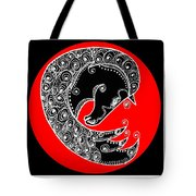Zen Horse Black Tote Bag
