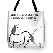 Zen Horse Releasing Tote Bag