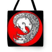 Zen Horse White Tote Bag