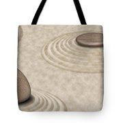 Zen Stones On Sand Garden Circles 2 Tote Bag