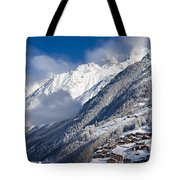 Zermatt Mountains Tote Bag