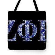Zeta Phi Beta - Black Tote Bag