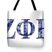 Zeta Phi Beta - White Tote Bag