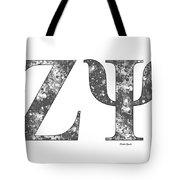 Zeta Psi - White Tote Bag