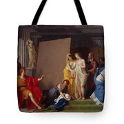 Zeuxis Choosing His Models For The Image Of Helen From Among The Girls Of Croton Tote Bag