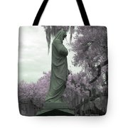 Ziba King Memorial Statue Side View Florida Usa Near Infrared Gr Tote Bag