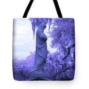 Ziba King Memorial Statue Side View Florida Usa Near Infrared Tote Bag