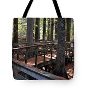 Zig Zag Thru The Cypress Trees Tote Bag