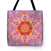 Zinna Flower Mandala Tote Bag