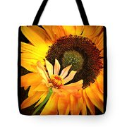 Zinnia And Sunflower Tote Bag