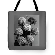 Zinnia Lilliput Flowers Tote Bag
