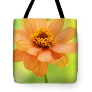 Zinnia On A Brilliant Spring Day Tote Bag