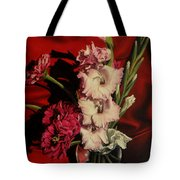 Zinnias And Gladiolas Tote Bag