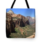 Zion Canyon Overlook Tote Bag