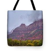 Zion In Clouds Tote Bag