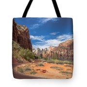 Zion Mount Carmel Highway Tote Bag
