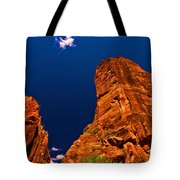 Zion National Park Oil On Canvas Tote Bag