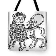 Zodiac Leo, 1482 Tote Bag