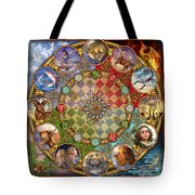 Zodiac Mandala Tote Bag