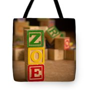 Zoe - Alphabet Blocks Tote Bag