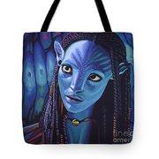 Zoe Saldana As Neytiri In Avatar Tote Bag