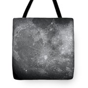 Zoom In Moon Tote Bag