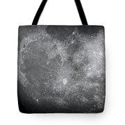 Zoom In Moon Tote Bag