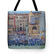 Zoom On St Marks Square Venice Italy Tote Bag