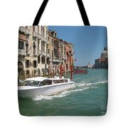 Zooming On The Canals Of Venice Tote Bag