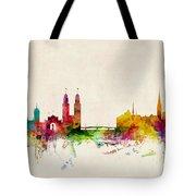 Zurich Switzerland Skyline Tote Bag by Michael Tompsett