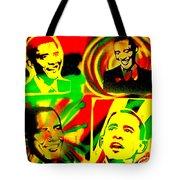 4 Rasta Obama Tote Bag by Tony B Conscious