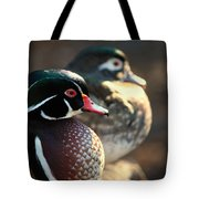 A Couple Of Wood Ducks Tote Bag