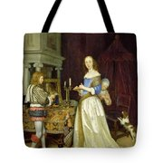 A Lady At Her Toilet Tote Bag by Gerard ter Borch