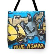 Abstract Permission Graffiti Wall Tote Bag