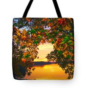 Autumn Leaves A View Tote Bag