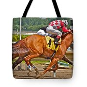 Betting On Number Four Tote Bag