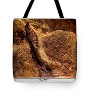 Bronze Lizard Tote Bag