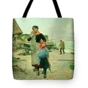Fisherfolk Returning With Their Nets Tote Bag
