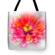 Flower On White Tote Bag