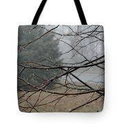 Fog Hangs Heavy Tote Bag
