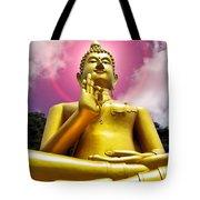 Golden Love Buddha Tote Bag