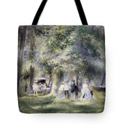 In The Park At Saint-cloud Tote Bag