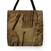 Karnak Egypt Hieroglyphics Tote Bag