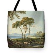 Landscape With Harlech Castle Tote Bag